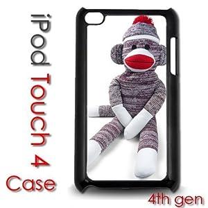 IPod Touch 4 4th gen Touch Plastic Case - Sock Monkey Stuffed Animal