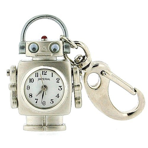 Gtp Unisex Novelty Robot With Moving Eyes Clock Keyring An Ideal Gift Imp710 front-582308