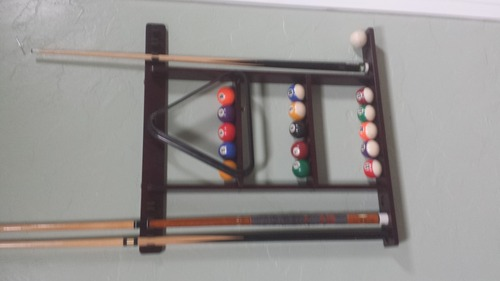 Best Price 6 Pool Cue - Billiard Stick Wall Rack Made of Wood