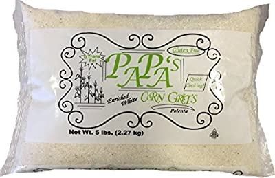 PAPA'S White Corn Grits (pack of 2 - 5 pound bags) from Millstone Mills