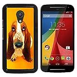 YiPhone Premium Slim Snap Back Case Cover Armor Shell Basset Hound  Pendant Ear Dog Motorola MOTO G 2ND GEN II