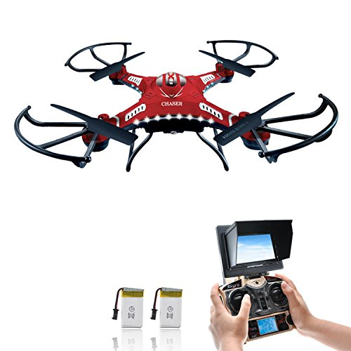 Potensic 5.8 GHz Monitor FPV Drone LCD F183D RTF RC Quadcopter with HD