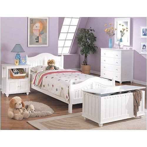 NEW TWIN SIZE BEDROOM SET IN WHITE FINISH