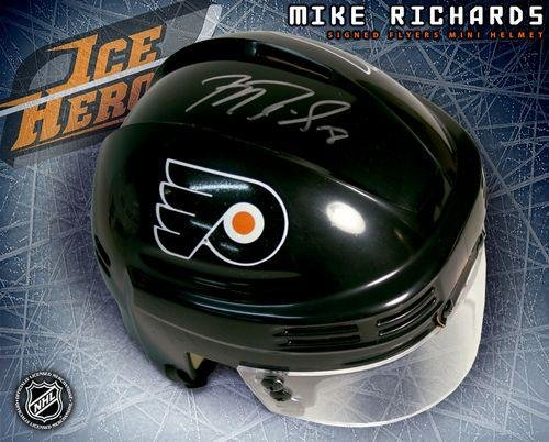 Mike Richards Philadelphia Flyers Autographed Black Mini Helmet - Autographed NHL Mini Helmets at Amazon.com