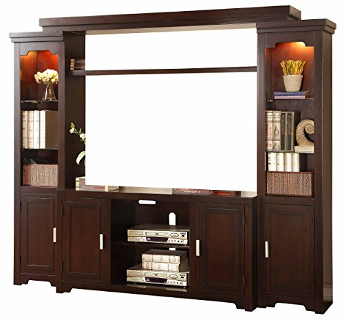 HOMELEGANCE 8001*4 4 Piece Entertainment Center TV Stand, Espresso Finish