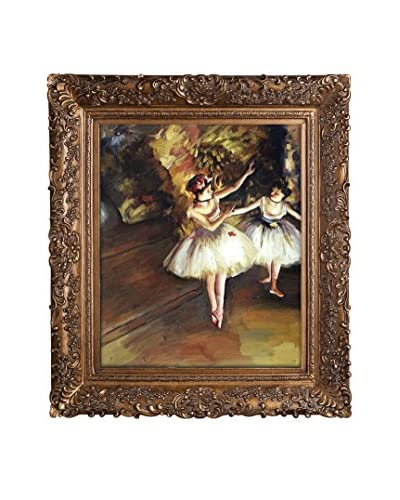 Edgar Degas's Two Dancers On Stage Framed Hand Painted Oil On Canvas, Multi