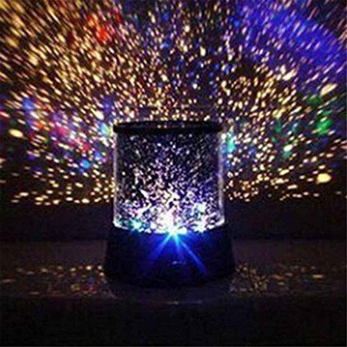 Projizieren-Stern-Himmel-Nacht-Kosmos-Projektor-Fee-Licht-LED-Lampe-Dekoration
