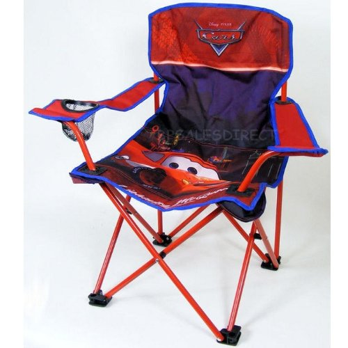 Cars lightning mcqueen folding camping chair seat carry bag official