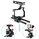 Neewer® Aluminum Alloy Film Movie Making Camera Video Cage with 15mm Rod System Rig for Sony A7 Camera A7/A7II/A7s/A7r/A7Rii,Panasonic GH4 to Mount Microphone,Monitor,Video LED Light,Follow Focus
