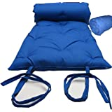 Brand New Royal Blue Traditional Japanese Floor Futon Mattresses, Foldable Cushion Mats, Yoga, Meditaion.