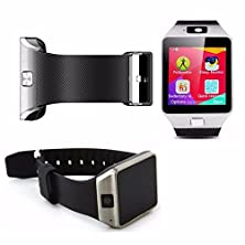 buy Dx09 Smartwatch Heartrate Test Bluetooth Smart Watch Wristband With Pedometer Anti-Lost Camera For Iphone Samsung Huawei Android Phones (Silver)