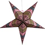 Honeycomb Paper Star Light Lamp Lantern (Pink) with 12 Foot Power Cord Included