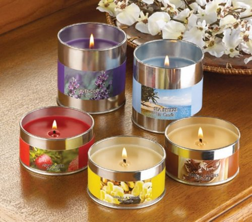 LAVENDER BLOOM SCENTED TIN CANDLE