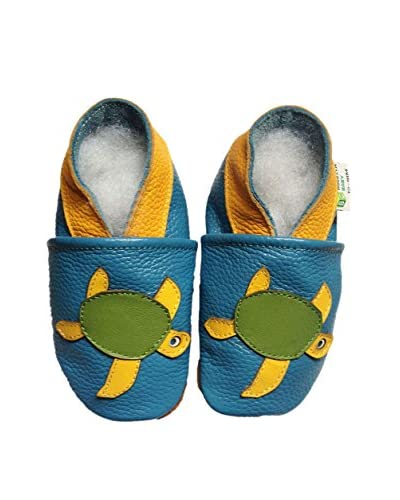 Augusta Baby Kid's Sea Turtle Leather Soft Sole Baby Shoe