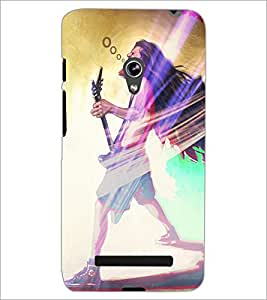 PrintDhaba Street Musician D-3916 Back Case Cover for ASUS ZENFONE 5 A501CG (Multi-Coloured)