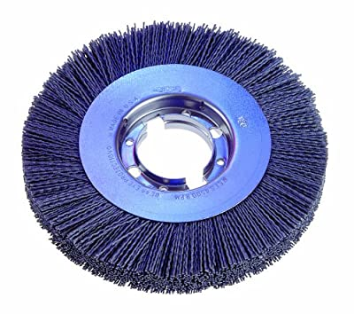 "Osborn 22287 Wide Face Abrasive Nylon Wheel Brush, Silicon Carbide Bristle, 6000 RPM, 6"" Diameter, 180 Grit"