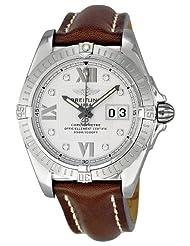 Best Price Breitling Men's A4935011-G655BRLT Windrider Cockpit Silver Dial Watch