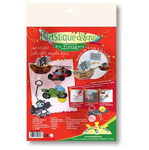 PW International - Plastique dingue - kit transport : feuilles plastique, porte-clefs, bande magnétique ...