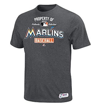 Miami Marlins Carbon Property of T-Shirt by Majestic by Majestic