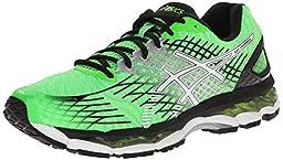 ASICS Men\'s Gel-Nimbus 17 Running Shoe,Flash Green/White/Black,10 M US