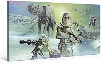 """Gallery of Innovative Art - 100x50cm Star Wars Leinwandbild """"Empire Attacks"""" Kunstdrucke Aufgespannt auf Holzkeilrahmen"""