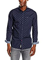 Pepe Jeans London Camisa Hombre Yuan (Azul Oscuro)