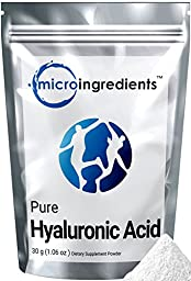 Micro Ingredients Plant-Based Pure Hyaluronic Acid Powder, 30 grams