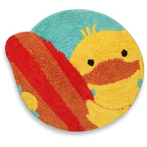 Saturday Knight Limited Quackers Rubber Ducky Rug, 25 X 26.5 Inch front-160051