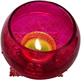 """Christmas Candles In Pink Colour With Cones And Candle Set 2 (3.25"""" * 3.25"""" , Height: 3"""")"""