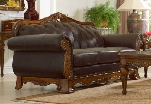 Leather Sofa of Golden Eagle Collection by Homelegance