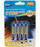 4 x Pack AAA Palo Palocell Rechargeable Rechargable Batteries NIMH 1100mAh very high capacity ideal for Cordless Telephones, Digital Cameras, Calculators, Mobile Devices, Toy Games , Torches, Handheld Products and most Electrical Items