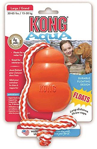 Artikelbild: Kong Cool (L) 15030 Hunde-Spielzeug 10,5 cm orange mit Seil