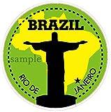 観光ステッカー ブラジル・リオデジャネイロ(6.3mm) 防水紙シール スーツケースetc用