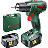 Advanced Bosch POWER4ALL PSR 1800 LI-2 18v Cordless 2 Speed Drill Driver with 2 Lithium Ion Batteries 1.5ah [Pack of 1] --