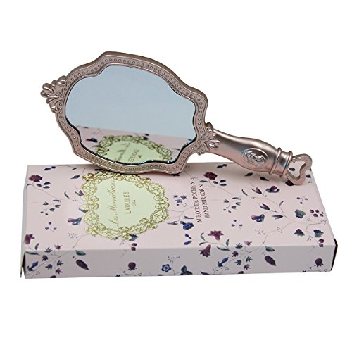 Girls Embossed Vintage Make-Up Hand Table Mirror Hand Held Makeup Mirror Princess Style Ideal Gift 2
