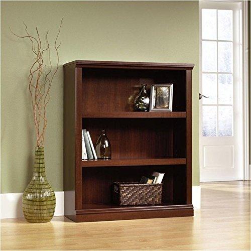 Sauder 3-Shelf Bookcase, Select Cherry Finish Basic 3 Shelf Bookcase