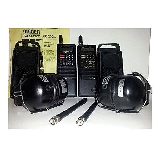 Uniden Bearcat Bc 200Xlt & Regency Regency R4030 200 Channel Scanners With Peltor Headsets