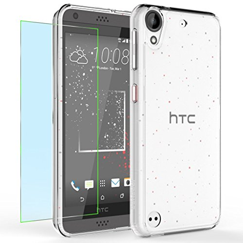 HTC Desire 530 Case, INNOVAA Luminous Crystal Clear Series Bumper Case W/ Free Screen Protector & Touch Screen Stylus Pen - Crystal Clear
