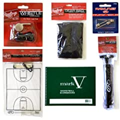 Rawlings Basketball Coaches Pack Mark V Scorebook, Coaches Clipboard, Whistle and... by Rawlings