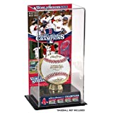 Boston Red Sox 2013 MLB World Series Champions Gold Glove with Image Display Case
