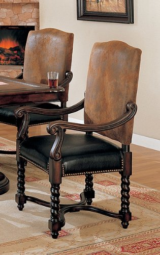 black friday coaster european style game dining arm chairs with nail