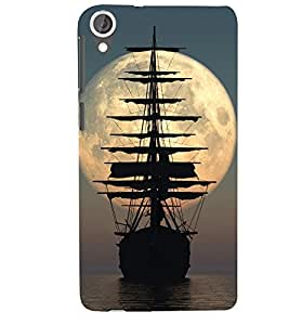 The ship in the ocean Designer Back Case Cover for HTC Desire 820 - B1640