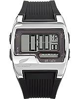 All Blacks - 680021 - Montre Homme - Quartz Digital - Cadran Noir - Bracelet Silicone Noir