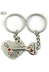 Click Down Key to My Heart Cute Couple Keychain Love Keychain Key Ring