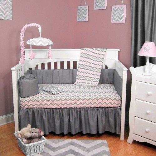 Gray Chevron Baby Bedding 2400 front