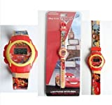 Original disney pixar cars wrist watch team 95 lightning MCqueen kids digital clock stop sport watch boys kids children