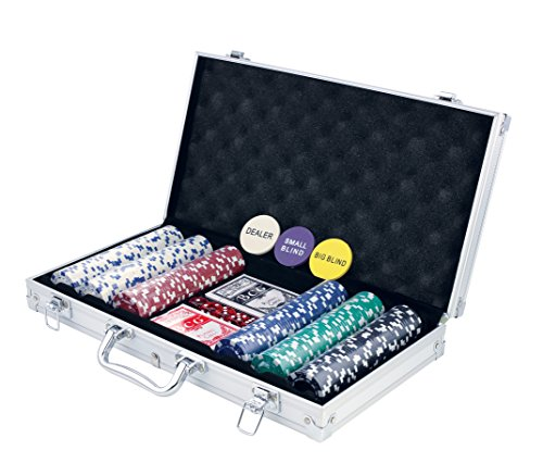 New KOVOT 300 Chip Dice Style Poker Set In Aluminum Case (11.5 Gram Chips)
