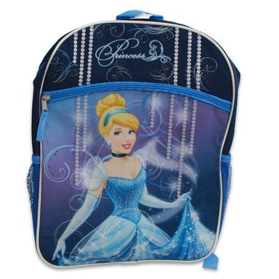 "1 piece of 16"" Cinderella Backpack with 2 Compartments - 1"