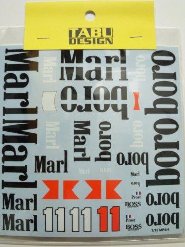 【TABU DESIGN/タブデザイン】1/8 マクラーレン MP4/4 オプションデカール