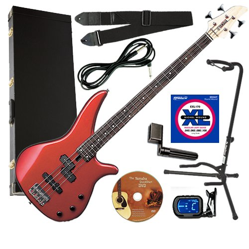 Yamaha RBX170 Red Bass ESSENTIALS BUNDLE w/ Gig Bag, Strap & Stand